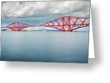 Train Bridge - Forth Of Fifth Greeting Card