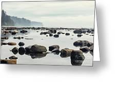 Tranquil Sea Water Surface Landscape Greeting Card