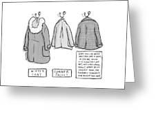Trans-seasonal Coat Greeting Card