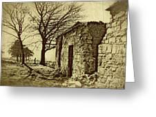 Tree And Ruins Greeting Card