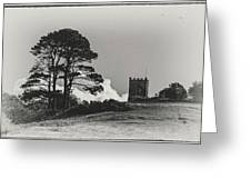 Tree And Tower Greeting Card