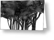 Tree Impressions 1l Greeting Card