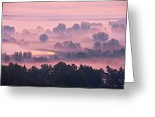 Trees In The Mist Greeting Card by Whitney Goodey