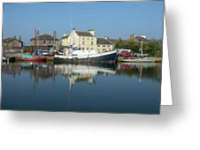 Trefusis Gy242 At Glasson Dock Greeting Card