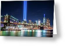 Tribute In Light From Brooklyn 1 Greeting Card