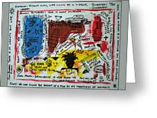 Tribute To Basquiat, Philosophy, And Activism Greeting Card
