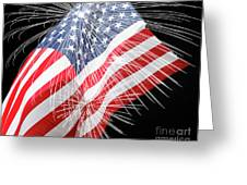 Tribute To The Usa Greeting Card