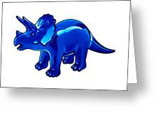 Triceratops Cartoon Greeting Card