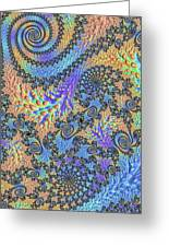 Trippy Vibrant Fractal  Greeting Card