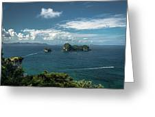 Tropical Island In The Ocean Greeting Card