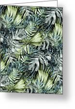 Tropical Leaves I Greeting Card