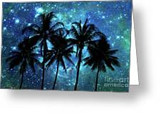 Tropical Night Greeting Card