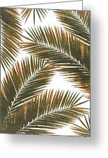 Tropical Palm Leaf Pattern 6 - Tropical Wall Art - Summer Vibes - Modern, Minimal - Brown, Copper Greeting Card