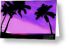 Tropical Pink Sunset Greeting Card