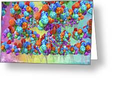 Tropical Print Balloons Greeting Card