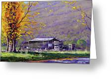 Tumut Valley Farm Shed Greeting Card