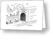 Tunnel Of Problems Greeting Card