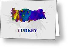 Turkey, Map, Artist Singh Greeting Card