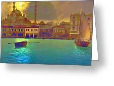 Turkish  Moonlight Greeting Card