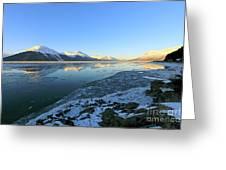 Turnagain Arm In Winter Alaska Greeting Card