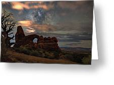 Turret Arch  And Tree Greeting Card