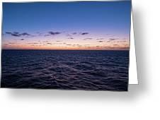 Twilight At Sea II Greeting Card by William Dickman