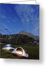 Twilight Camping Greeting Card