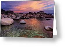 Twilight Canvas  Greeting Card by Sean Sarsfield