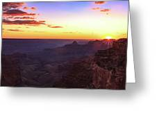 Twilight In The Canyon Greeting Card