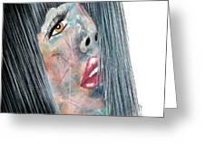 Twilight - Woman Abstract Art Greeting Card