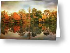 Twin Pond Reflections Greeting Card