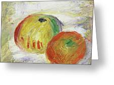 Two Apples, 1875 Greeting Card