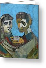 Two People Greeting Card