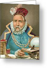 Tycho Brahe Illustration Greeting Card