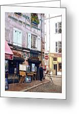 Un Artiste A La Place Du Tertre Paris. Greeting Card