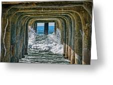 Under The Pier Manhattan Greeting Card by Michael Hope