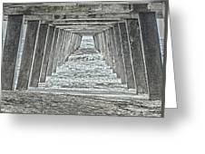 Under The Tybee Island Pier Greeting Card by Judy Hall-Folde