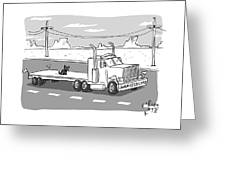 Undersized Load Greeting Card