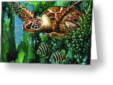 Underwater Mardi Gras Greeting Card