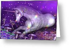 Unicorn Forest Greeting Card