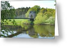 Union Chain Bridge At Horncliffe On River Tweed Greeting Card