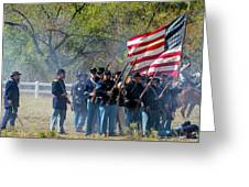 Union Infantry Advance Greeting Card