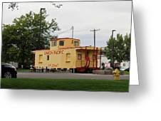 Union Pacific Caboose Greeting Card