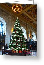 Union Station Decorates For Christmas In Kansas City Greeting Card