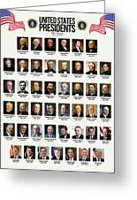 United States Presidents Greeting Card