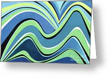 Untitled  Abstract Blue And Green Greeting Card