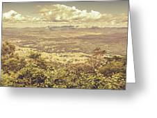 Up Above The Land Down Under Greeting Card