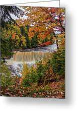 Upper Tahquamenon Autumn Colors -0007 Greeting Card