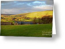 Upper Wensleydale And Lovely Seat From Hawes In Yorkshire Dales Greeting Card