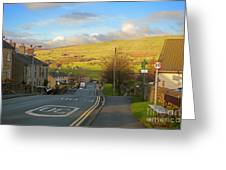 Upper Wensleydale From Hawes Yorkshire Dales National Park Greeting Card